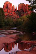 Red Rock Crossing Framed Prints - Cathedral Rock Framed Print by Kenan Sipilovic