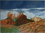 Grande Painting Framed Prints - Cathedral rock Framed Print by Paul Santander