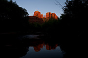 Red Rock Crossing Framed Prints - Cathedral Rock Reflection 6 Framed Print by Lee Kirchhevel