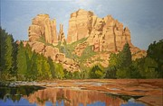 Cathedral Rock Paintings - Cathedral Rock Sedona by Fred Urron