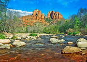 Cathedral Rock Sedona Print by Steven Barrows