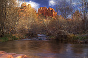 Red Rock Crossing Framed Prints - Cathedral Rocks Framed Print by Photography by Laura Lee