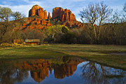 Red Rock Crossing Framed Prints - Cathedral Framed Print by Tom Kelly