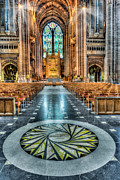 Liverpool Digital Art Prints - Cathedral Way Print by Adrian Evans