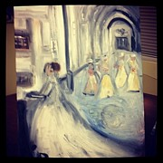 Bridesmaid Paintings - Cathedral Wedding by Sandra Maxwell