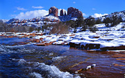 Red Rock Crossing Framed Prints - Cathedral Winter Framed Print by Bob Bradshaw