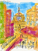 Cathedrale Notre Dame De Paris. I Love Paris - J Adore Paris . The Young Rebels Movement. Print by  Andrzej Goszcz