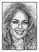 Closeups Drawings Framed Prints - Catherine Bach in 1979 Framed Print by J McCombie
