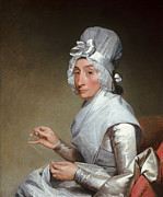 Gilbert Paintings - Catherine Brass Yates by Gilbert Stuart