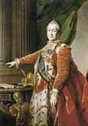 Catherine Framed Prints - Catherine Ii The Great 1729-1796. Oil Framed Print by Everett