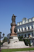 Catherine The Great Prints - Catherine the Great Statue Odessa Print by Christiane Schulze