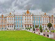 Catherine Window Prints - Catherines Palace in Saint Petersburg Print by Digital Photographic Arts