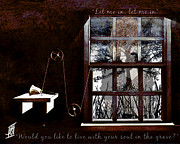 Catherine Window Prints - Cathy came Back Print by Rosy Hall