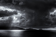 Cats Eye Prints - Cats Eye Bay Monochrome Print by Tim Nichols