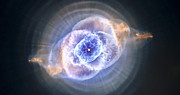 Science Fiction Art Framed Prints - Cats Eye Nebula Framed Print by Adam Romanowicz