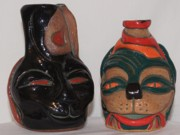 Wheel Thrown Ceramics Originals - Cats of A Different Color by Susan Perry