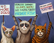 Leah Saulnier The Painting Maniac - Cats On Strike edit 2