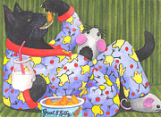 Cats Pajamas Print by Catherine G McElroy