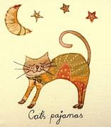 Cats Pajamas Print by Hazel Millington