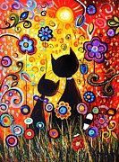 Jolina Anthony Prints - Cats Paradise Print by Jolina Anthony