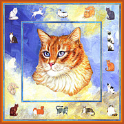 Kittens Prints - Cats Purrfection Five - Orange Tabby Print by Linda Mears