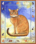 Kitten Framed Prints - Cats Purrfection Two - Abyssinian Framed Print by Linda Mears