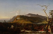 Fall Panorama Paintings - Catskill Mountain House by Jasper Francis Cropsey