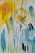 Cattail Paintings - Cattail Sun by Barbara McMahon