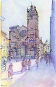 Cattedrale Di S. Lorenzo A Genova Print by Luca Massone