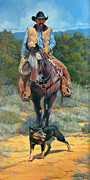 Arizona Cowboy Prints - Cattle King Print by Randy Follis