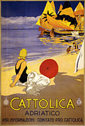 20s Digital Art Prints - Cattolica Print by Nomad Art And  Design