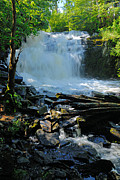 Canoe Waterfall Prints - Cattyman Falls 2 Print by Larry Ricker
