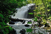Canoe Waterfall Metal Prints - Cattyman Falls Metal Print by Larry Ricker