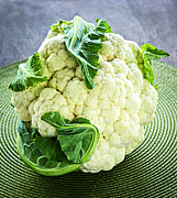 Placemat Framed Prints - Cauliflower Framed Print by Elena Elisseeva