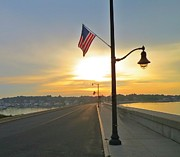 Most Viewed Framed Prints - Causeway July 4th Framed Print by Anne Sterling