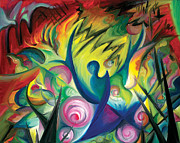 Abstract Expressionist Posters - Causing A Scene Poster by Tiffany Davis-Rustam