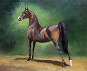 Show Horse Paintings - Causing Chaos by Jeanne Newton Schoborg