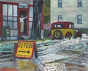 Storms Paintings - Caution by Cliff Wilson