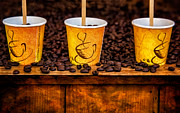 Coffee Drinking Photo Posters - Caution... Contents Hot Poster by Susan Candelario