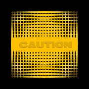 Children's Room Prints - Caution Print by Darla Wood