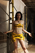 Devilish Posters - Caution Poster by Devilish - Photographer