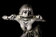 Caution Tape Posters - Caution Face Poster by Devilish - Photographer