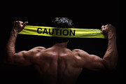 Athlete Prints - Caution Print by Jane Rix