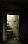 Flight Of Stairs Photos - Cautionary Stairs by Marcia Lee Jones
