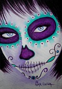 Close Up Painting Metal Prints - Cautivado por la Belleza Raven Metal Print by Al  Molina