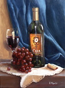 Wine Tasting Prints - Cava Wine Print by Viktoria K Majestic