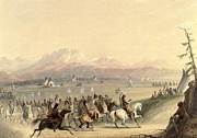 Plains Indian Paintings - Cavalcade by Alfred Jacob Miller