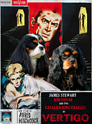 Vertigo Originals - Cavalier King Charles Spaniel Art - Vertigo Movie Poster by Sandra Sij