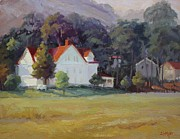 Sausalito Painting Posters - Cavallo Point Poster by Carol Smith Myer