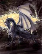 Cave Dragon Print by Rob Carlos